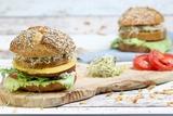 Veganer Alm-Burger